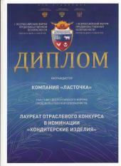 """Лауреат конкурса """"кондитерские изделия"""""""