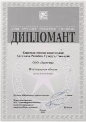 100 лучших товаров России 2016 (карамель)